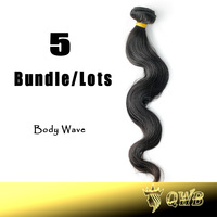 Free Shipping 12''~32'' 5Bundle/Lots  Queen Hair Brazilian virgin Hair No Chemical Processed Cuticle Intact Hair