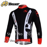 2011 new arrive GIORDANA Long Sleeve Cycling Jersey Size S M L XL XXL XXXL free shipping