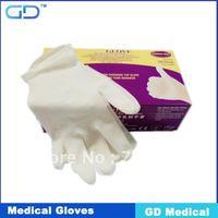free shipping AQL1.5 Latex Examination Gloves powder and powder free