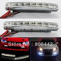 2pcs 8 LED Universal Car Light DRL Daytime Running Head Lamp Super White 2657