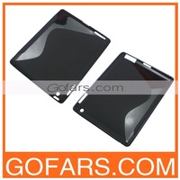 Gel S Line Anti Skid Wave Soft Back TPU Cover Case for iPad 4/3/2 100pcs/Lot