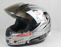 2012 Professional Run Helmet,Full face Motorcycle Helmet,ABS Material,Silver color ,Size from S to XXL
