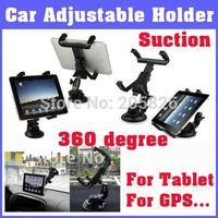 Drop Shipping Cradle Bracket Clip Car Holder for epad for Tablet PC,  GPS, Suction Tablet Holder for Back on Car Promotion Price