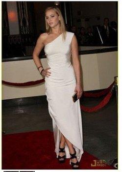 Jennifer Lawrence White Evening Dress