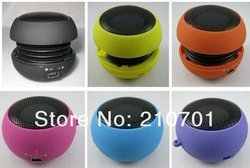 Free Shipping USB Mp3 speaker Stereo Mini Speaker Music MP3 Player Amplifier loudspeaker for iPod iPhone Laptop Notebook(China (Mainland))