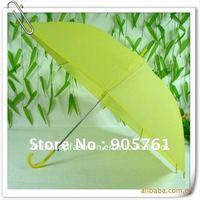 48pcs/lot customized logo print advertising umbrella, solid color eva stick umbrella