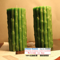 High Wealth bamboo candles Art candles Environmental protection