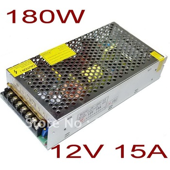 New 180W 12V 15A Switching Power Supply For LED Strip light,220V/110V AC input,12V output +DHL Free shipping