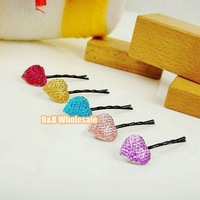 Free Shipping, Wholesale New Crystal Diamond Hair Clips/Lovely Girls Hair Accessories/Baby Headband/Hair Band/Hairpin, 80136