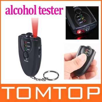 Accurate Breath Alcohol Tester Breathalyzer Flashlight,10pcs/lot, freeshipping, dropshipping