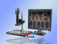 Free shipping VGA Output video microscope+1.3MP camera light microscope