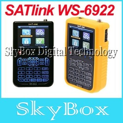 Free shipping Satlink WS-6922 digital satellite finder meter DVB-S2 FTA ws-6922 satellite finder Color Screen ws 6922(China (Mainland))
