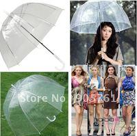 2012New Hot Selling Fashion Apollo Transparent Umbrella Clear Bubble Umbrella Gossip Girl Mushroom Umbrella Free Shipping