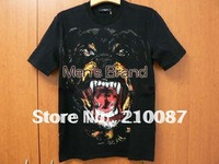 2012 new rottweiler Collie head pattern TEE for Lovers' Tshirt