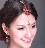 Free shipping, Bride wedding jewelry,Indian style, alloy ornaments, bowknot hairpin ,The bride head adorn article .