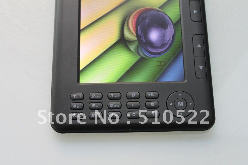 Электронная книга 7 inch hot E-book ebook reader with 4GB 720P ebook