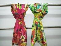 supernova sale 2014 new pure silk twill 14m/m long scarf bandana pashmina shawl hijab painting  hand-rolled for women ouya