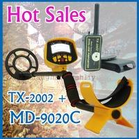 MD-9020C+TX-2002   Metal Detector Gold Digger Treasure Hunter Free Shipping