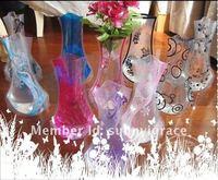 Free shipping 100pcs/lot Plastic Flower Vase,Eco-friendly and Reusable Clear Folding Plastic Vase