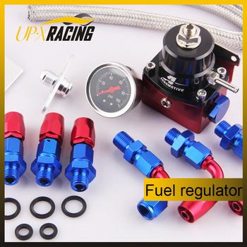 Hight quality aluminum Fuel Pressure Regulator with black gauge fpr