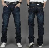 2014 free shopping Korea Men's Slim Fit Classic Jeans Trousers Straight Leg