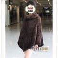 Genuine Knitted Mink Fur Poncho Coats Cloth Dress Garment/Free Shipping/Wholesale/Retail/OEM/Female QD6449  A G G