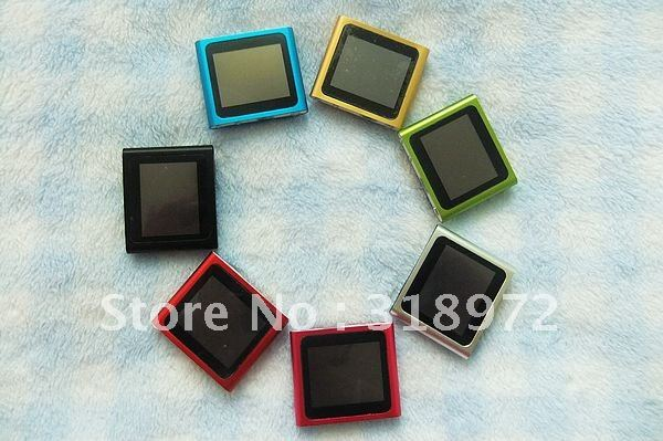 Free shipping 5pcs 1.8 LCD Touch Screen 8GB 6th Gen Digital clip mp4 player without retail package&accessories Good quality(China (Mainland))