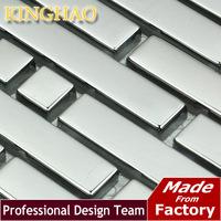 2014 Top Fashion Backsplash Fireplace [kinghao] Resale Silver Tiles Wall Glass Mosaic Wallpaper Building Materials Kitchen Gml05