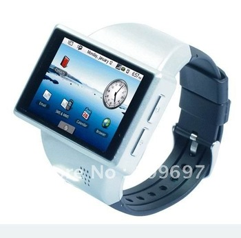 black gps wifi sport design watch mobile phone 2.0 capacitive screen