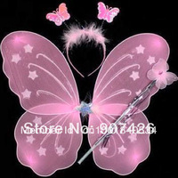 Free shipping wholesale Butterfly wing set(wing,headband,fairy wand)/ Angel wing 30set/lot
