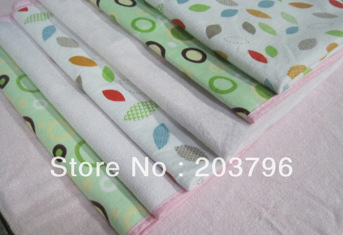 Free shipping (5 pieces/lot) Small size 55*70CM Bamboo fiber & waterproof TPU film Baby Diaper pad,Napkin,Nappy,soft comfortable(China (Mainland))