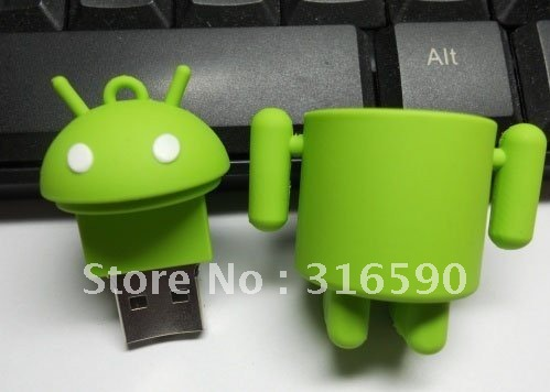 TRUE100% NEW! Free shipping! Google Android Robot USB 2.0 FLASH DRIVE pen drive usb stick  8gb  usb thumb drive