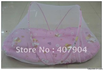 Fashion portable folding baby bed net size large with mosquito net