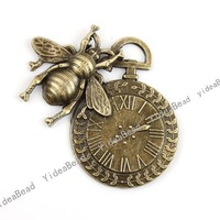 Wholesale- 10pcs Charms Antique Bronze pendants necklace pendant Vintage Pendant 140959