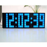 Multi-function  Green Color  LED Wall Clock for Free Shipping by CPAM