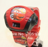 Cute Kids Boys Children Cartoon Digital Time Projector Watch, 9 Colors Different Pattern