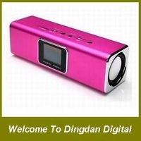 Free Shipping 100% original JH-MAUK5B music Angel speaker,Portable Speaker support TF/U-disk,with LCD screen +FM radio,D074