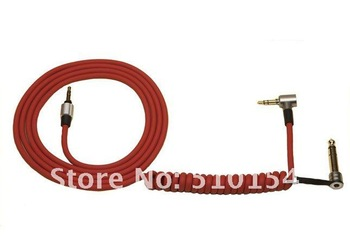 DHL Free Shipping 50pcs/lot 3.5mm to 6.5mm Headphone Replacement Stereo Audio Cable