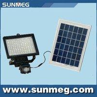 Free Shipping Saving Energy Green Product Solar LED PIR Sensor Wall Flood  Light