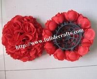 25cm red plastic inner wedding flower ball