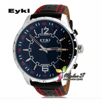 1pc Eyki Men's Sport watch, Japan Quartz  Leather Big face wristwatch ,FREE SHIPPING