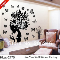 hot selling The Lovely Floral fairy Cartoon StickerHot selling Print type DIY Decoratiins stickers bedroom wall sticker