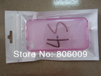 10*18cm Plastic Bag Sealing Pouch Pearl White Retail Package for case of iphone 4, 500pcs free shipping by DHL/EMS