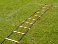 "CY-FS06-5 Agility Speed Ladder 5rungs Football iceball Run skill Training, Nylon Webbing Plastic Rungs, Free Length, 7'*17"""