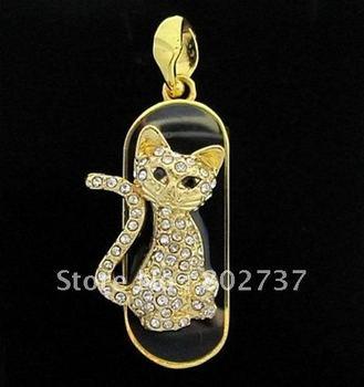 BW-8321 USB Flash Disk 1-16G Fashion Jewelry Cat Thumb Drive Full Memory
