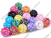 50pcs AB Semi-transparent Spacer Ball Beads Wholesale Crystal Rhinestone Beads Free shipping