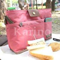 Free shipping Wholesale NEW makeup / MP3 Phone Storage Organizer Multi Bag Purse Hop Bag Handbag Insert