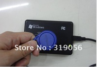 free shipping!!!RFID 125K ID-USB reader /ID card reader / ID white card x 5pc and ID tags card  x 5pc