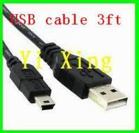 Free shipping 3ft mini usb cable 200pcs/lot