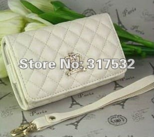 Free shipping wholesale Genuine soft sheep leather wallet case For mobile phone and  iPhone 3g 3gs 4g 4S + card holder